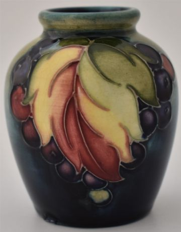 Moorcroft Pottery Leaf And Berry Vase